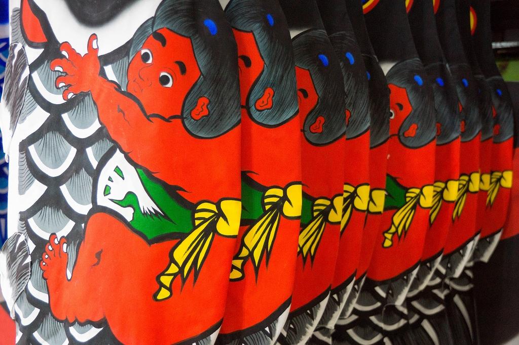 金太郎が跨った高儀オリジナルの鯉