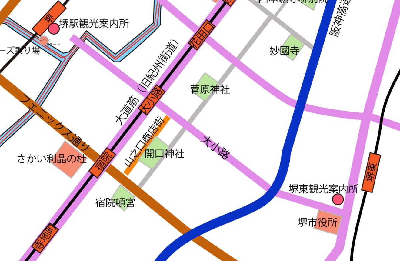 山之口商店街地図